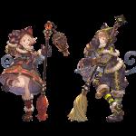 【クラスEXⅡ】黒猫道士+ルナティックブルーム/リディル+ザ・グローリーの強さやジョブ取得方法、武器のオススメ属性変更等(グラブル)